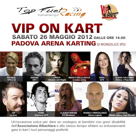 VIP ON KART: scendi in pista con Sinfonia Lab e gli amici di VIP ON BOARD
