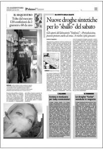 Articolo Gazzettino Smart Drugs