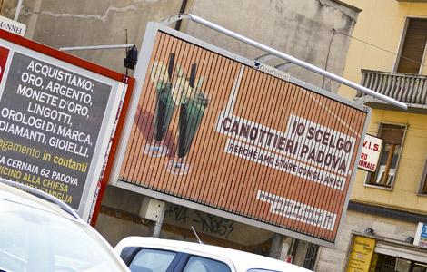 Canottieri Padova: campagna affissioni Sinfonia