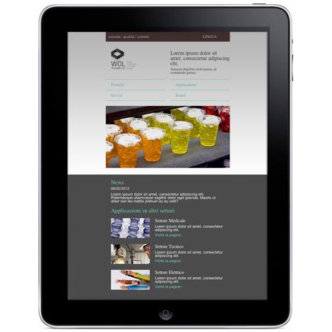 Design responsivo su iPad portrait