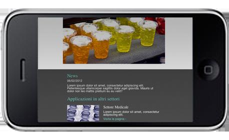 Design Responsivo su iPhone visualizzazione landscape
