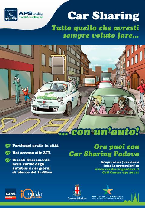 Manifesto Car Sharing Padova