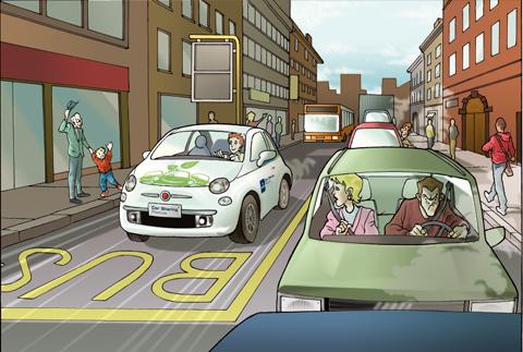 Vignetta colorata in digitale