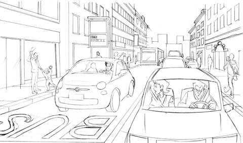 Bozza vignetta Car Sharing Padova