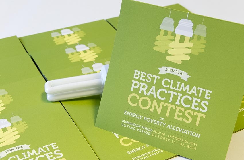 Flyer Best climate practices contest