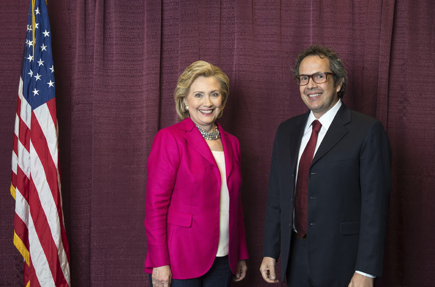 Hillary Clinton e Turatti