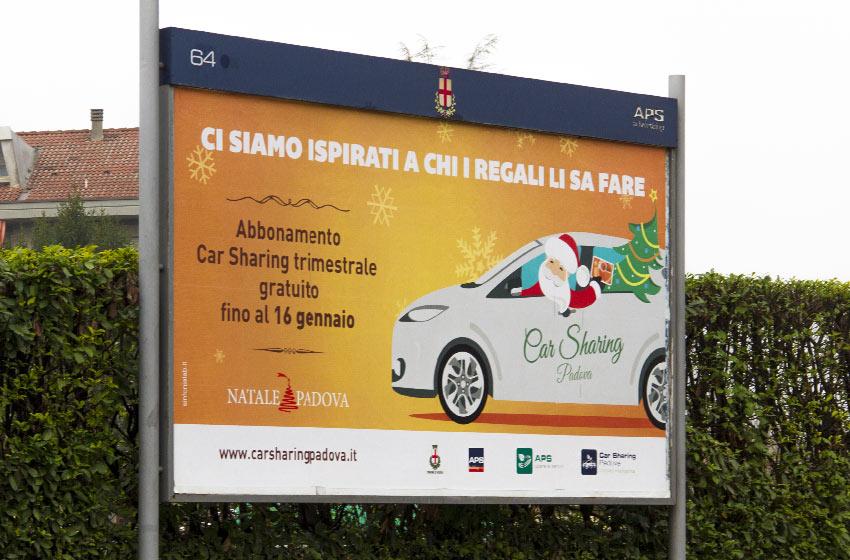 Affissioni Car Sharing Padova