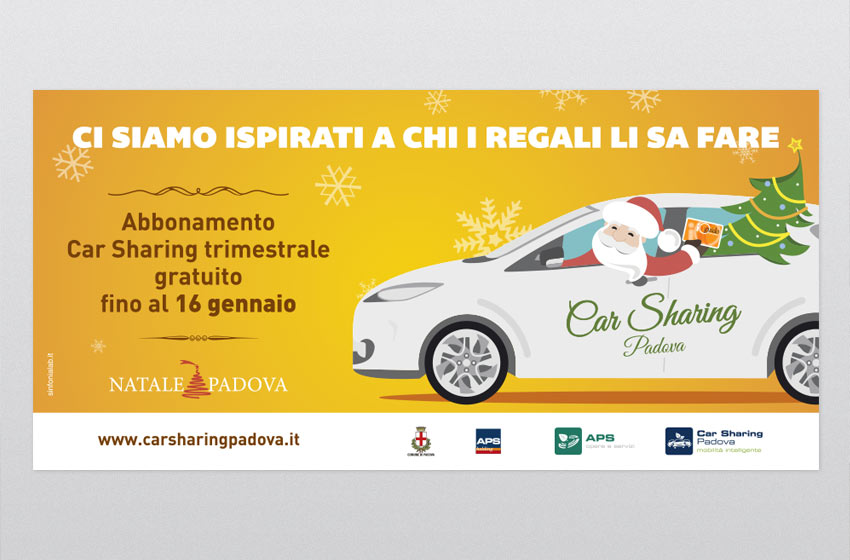 Layout grafico campagna Car Sharing