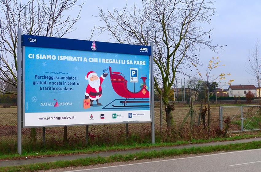 campagna pubblicitaria parcheggi