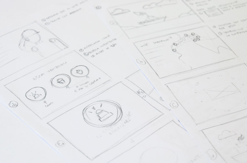 Sketch storyboard video motion graphics