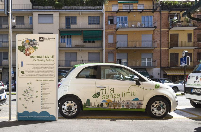 grafica parcheggio car sharing