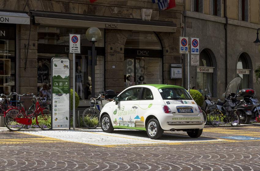 stallo del car sharing di Padova