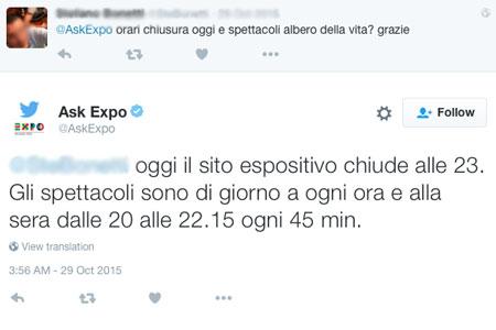 esempio ask expo