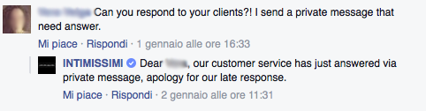 esempio intimissimi facebook