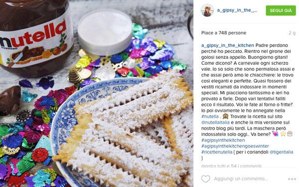 esempio instagram nutella