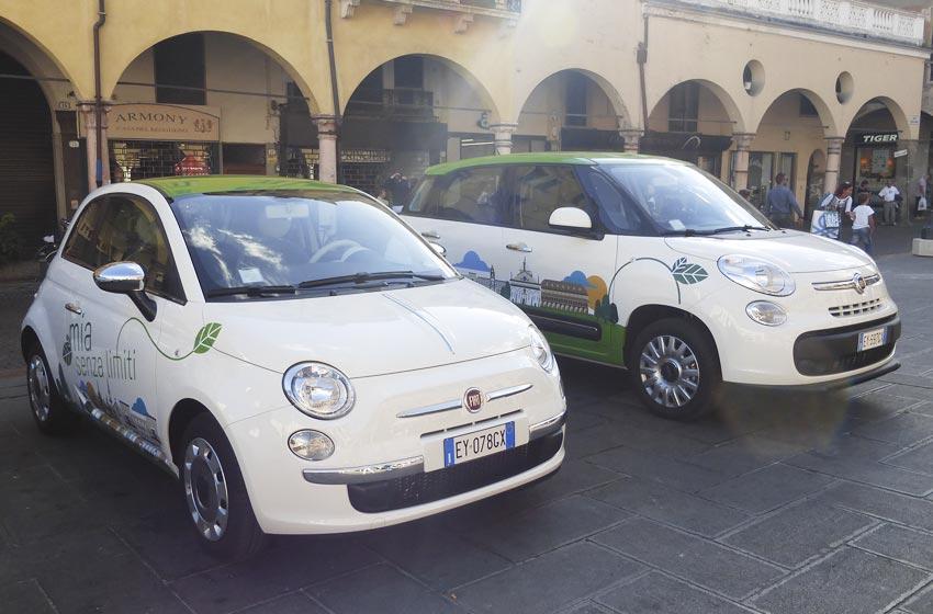 Le livree del Car Sharing di Padova