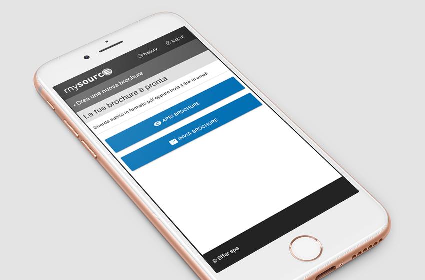App mobile mockup