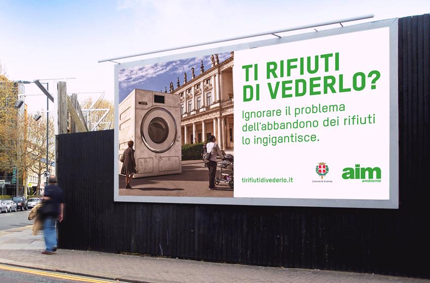 Campagna affissioni Abbandono rifiuti AIM